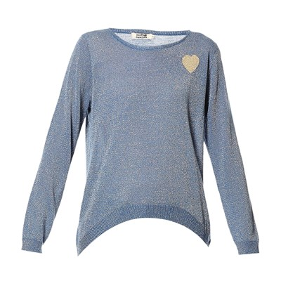 Sweat-shirt - denim bleu