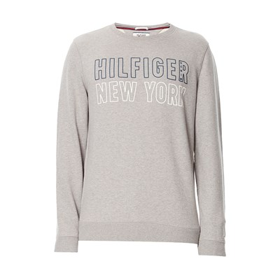 Sweat-shirt en coton - gris