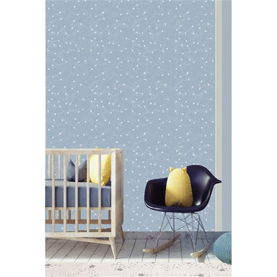 Art For kids constellation - papier peint - bleu