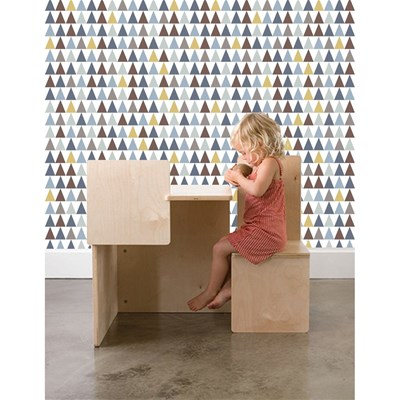 Art For kids triangles - papier peint - multicolore