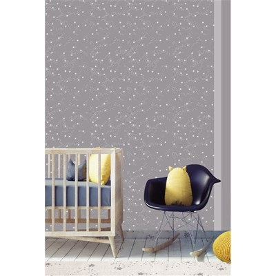 Art For kids papier peint intissé - gris
