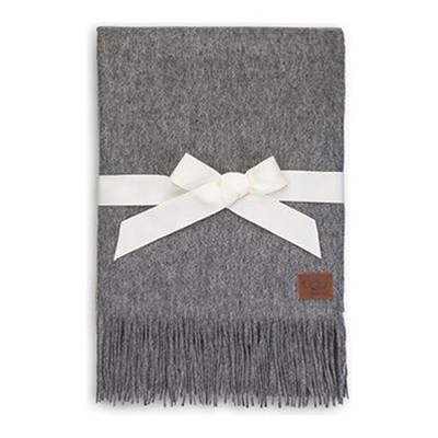 Glacier Throw - Plaid en laine - gris