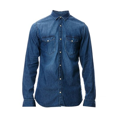 JACK & JONES Chemise - denim bleu