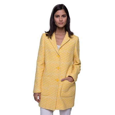 Trench And coat manteau casual - jaune