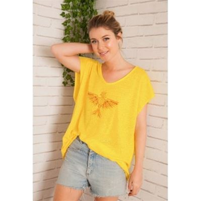 Tisco - T-shirt - jaune