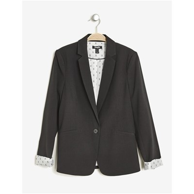 Blazer manches roll-up - noir