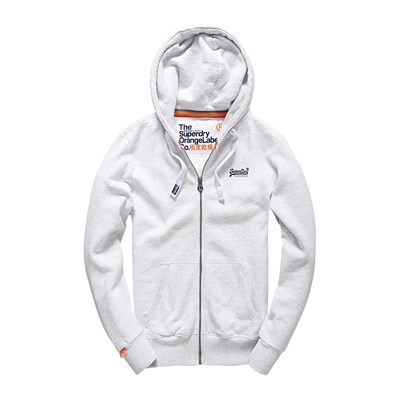 Orange Label - Sweat à capuche - gris chine