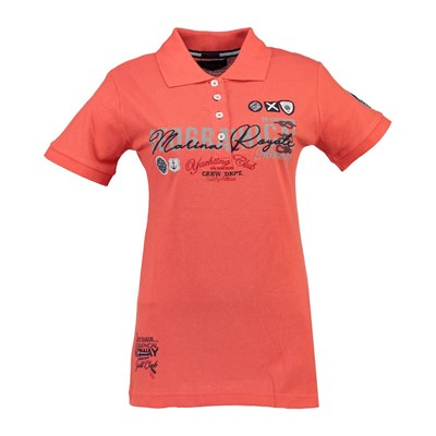 Geographical Norway Kibelule - Polo manches courtes - corail