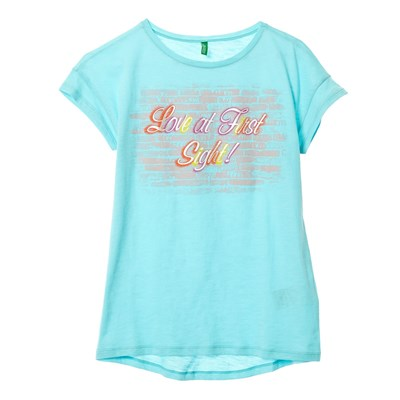 Benetton T-Shirt manches courtes - turquoise