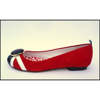 New day - Ballerines en cuir - rouge