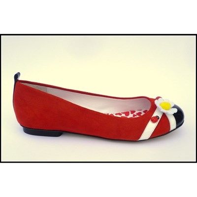 Love story - Ballerines en cuir - rouge