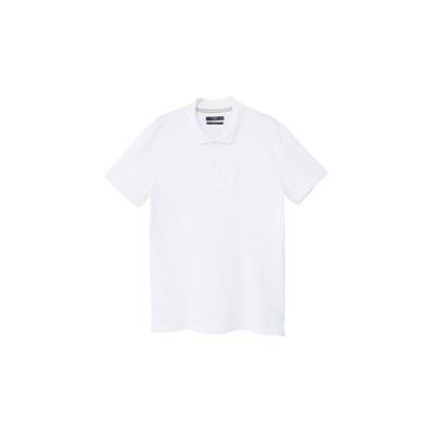 Polo slim-fit piqué de coton - blanc