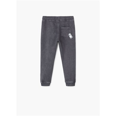Pantalon jogging empiècements - gris