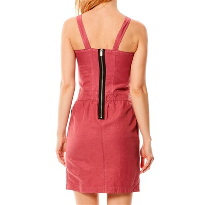 Robe bustier - cassis