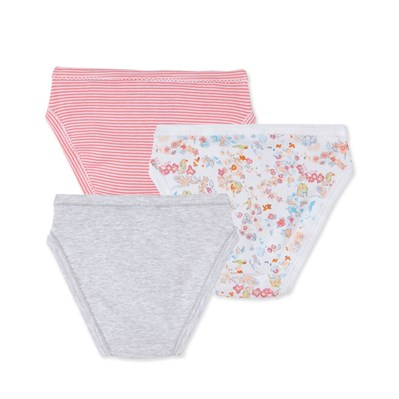Lot de 3 culottes fille - rose