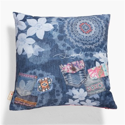 Exotic Jeans - Coussin carré - multicolore