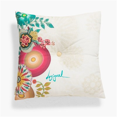 Essential Button - Housse de coussin - multicolore