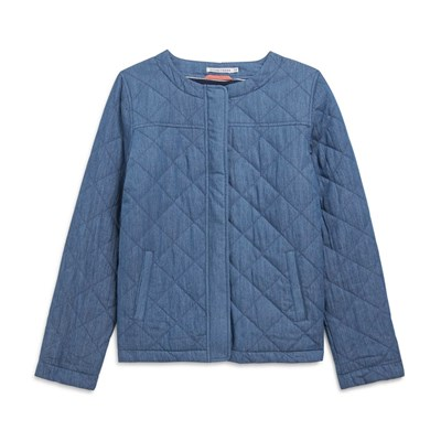 Veste denim quilté - denim bleu