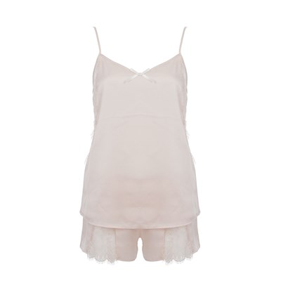 Claudette - Ensemble caraco et short - rose clair