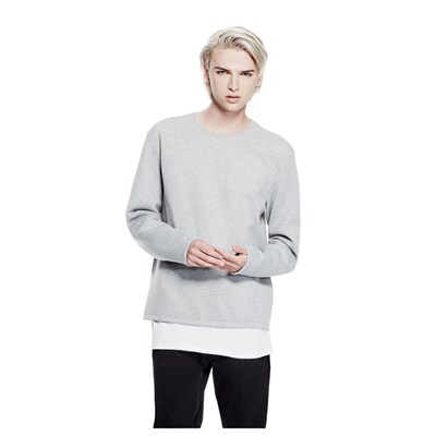 Sweat-shirt en tissu stretch - gris