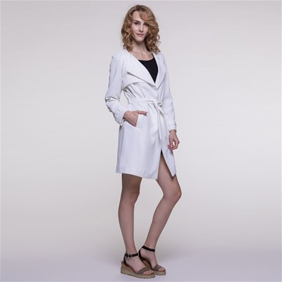 Coat Trench Fluide Blanc Trench And And q1xnt51
