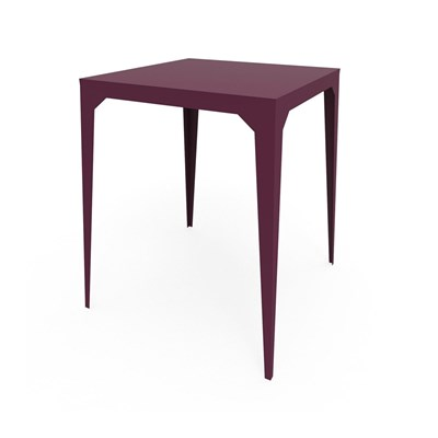 Zhed Cuatro - table haute - aubergine