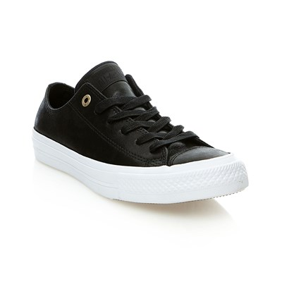 CHUCK TAYLOR ALL STAR II OX BLACK/BLACK/WHITE - Baskets en cuir - noir