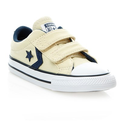 STAR PLAYER 2V OX NATURAL/NAVY/WHITE - Baskets - ecru