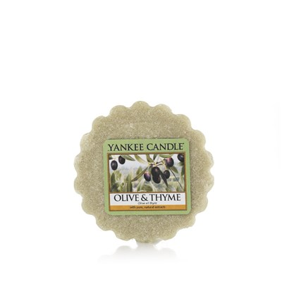 YANKEE CANDLE Olive et Thym - Tartelette - vert clair