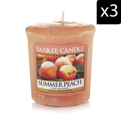 Pêche Gourmande - Lot de 3 votives parfumées - orange