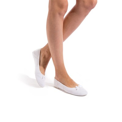 Chaussons ballerines - blanc
