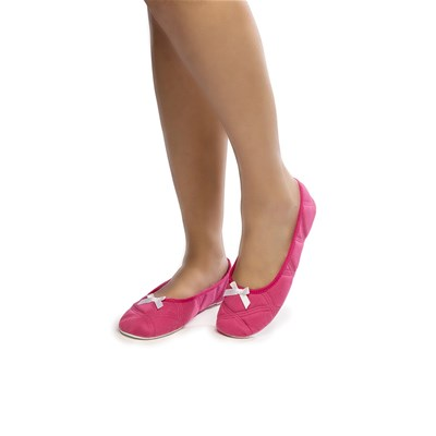 Chaussons ballerines - rose indien