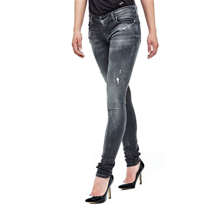 Jean skinny taille basse - gris