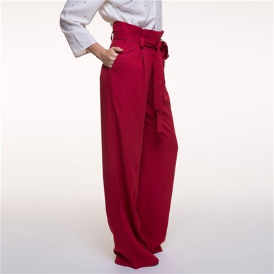 Pantalon large - rouge