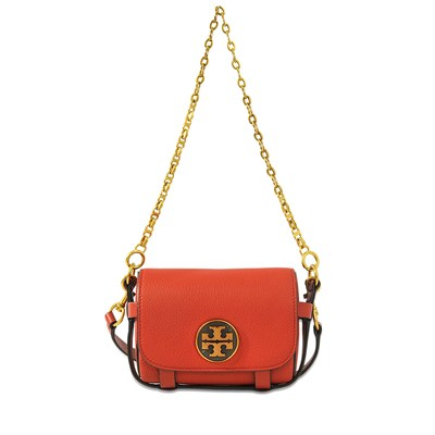 Alastair - Pochette en cuir - rouge