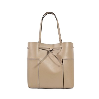 Block T - Sac shopping en cuir - gris