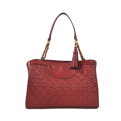 Fleming - Sac cabas en cuir - rouge