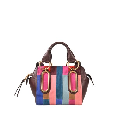 Paige small - Sac à main en cuir - multicolore