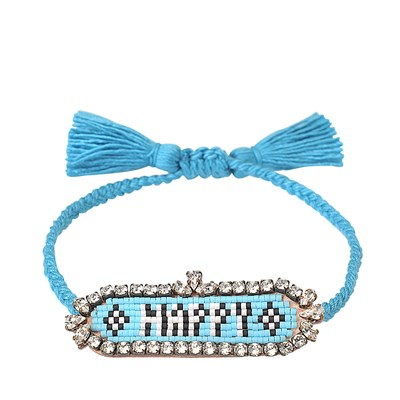 Happy - Bracelet cordon - multicolore