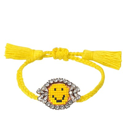 Happy Face - Bracelet cordon - multicolore