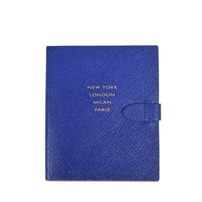 New York London Milan Paris - Carnet - bleu