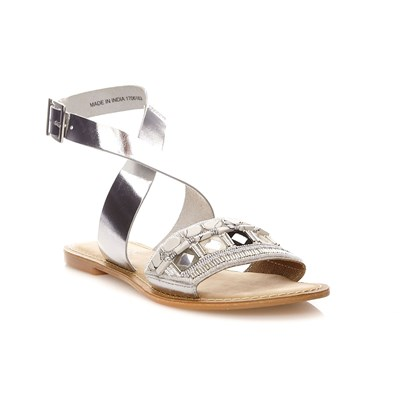 VMELISE LEATHER SANDAL - Sandales en cuir - argent