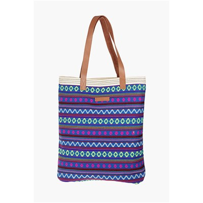 Sac shopping - bleu