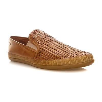 Base London stage weave tan - mocassins en cuir - camel