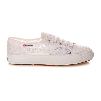 SUPERGA Cotu Macramew - Baskets Mode - blanc