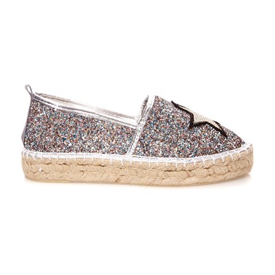 COLORS OF CALIFORNIA Espadrilles - argent