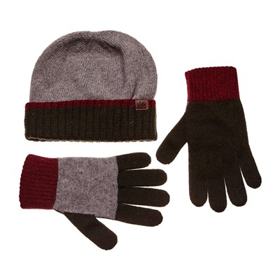 Ensemble bonnet et gants - multicolore