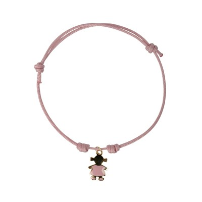 Petite fille - Bracelet finition or jaune - rose
