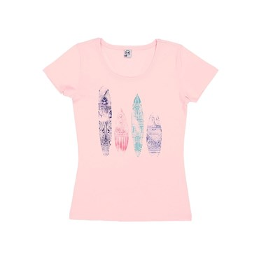 Ethnik Surf - T-shirt - rose