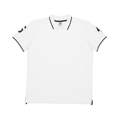 Double Patch - Polo - blanc